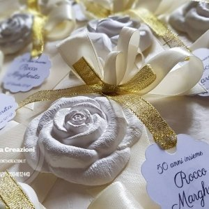 segnaposto nozze roselline